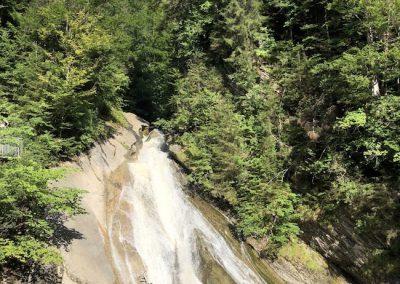 Starzlachklamm bei Sonthofen - Wasserfall neben der Klammhütte