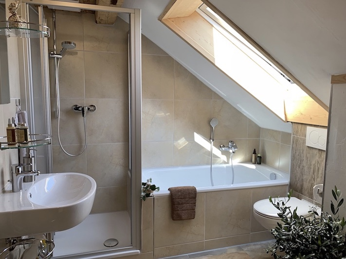 FeWo Bergblick: Badezimmer